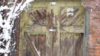 Weather-beaten Barn Doors