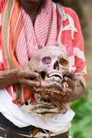Man with skull Close Up,Westbengal,India