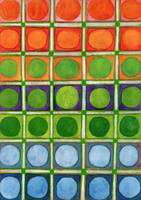 Beautiful Rainbow Colored Circles in a Grid