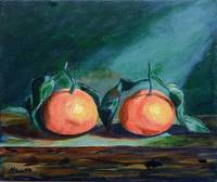 Still Life Tangerines impressionism Painting