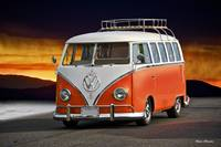 VW Surfer Bus 'Tide is Out'