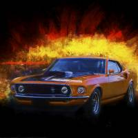 Boss 429 Mustang Art Prints & Posters by Stuart Row