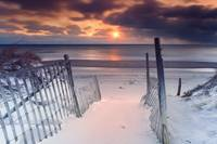 Beach Entrance Winter Sunrise