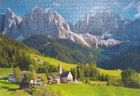 Framed puzzle - St. Magdalena South-Tirol