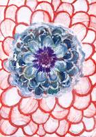 Centered Blue Blossom