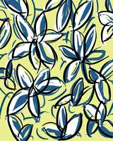 Yellow and Blue Modern Floral