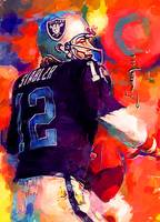 Ken Stabler #6 Wall Art by Edward Vela