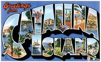 Catalina Island CA Large Letter Postcard Greetings
