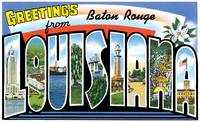 Baton Rouge LA Large Letter Postcard Greetings