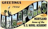 Annapolis MD Large Letter Postcard Greetings