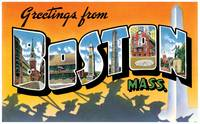 Boston MA Large Letter Postcard Greetings
