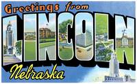 Lincoln NE Large Letter Postcard Greetings