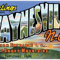 Waynesville NC Large Letter Postcard Greetings Art Prints & Posters by ArtLoversOnline