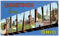 Cleveland OH Large Letter Postcard Greetings