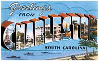 Charleston SC Large Letter Postcard Greetings