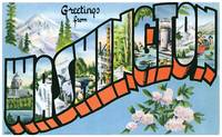 Washington WA Large Letter Postcard Greetings