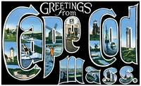Cape Cod MA Large Letter Postcard Greetings