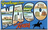 Waco TX Large Letter Postcard Greetings