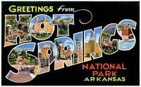 Hot Springs AR Large Letter Postcard Greetings