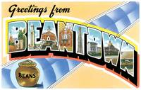 Beantown Large Letter Postcard Greetings