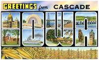 Cascade IA Large Letter Postcard Greetings