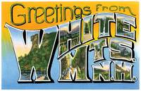 White Mts NH Large Letter Postcard Greetings