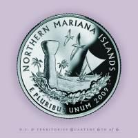 Northern Marianas Quarter  - Portrait Coin 56 Art Prints & Posters by Garrett Burke