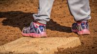 T Ball pink shoes