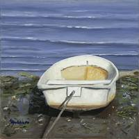 White Dinghy Beached v5 12x12 300ppi