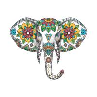 Elephant Head Mandala Tattoo