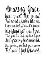 Amazing Grace Minimal Hymn Art