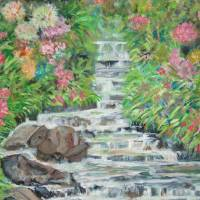Costa Rica Waterfall Garden Art Prints & Posters by Teresa Dominici