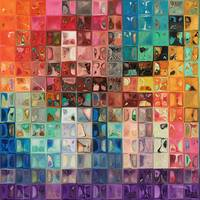 Rainbow Refractions. Modern Mosaic Tile Art Painti