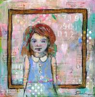 mixed media art | whimsical girl | Still Waters
