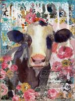 cow art | roses | floral art | Rosie the Cow