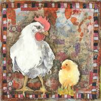 chicken art | animal art | birds | mixed media