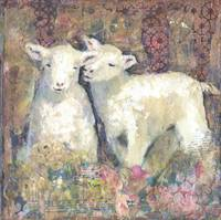 sheep | spring | floral art | Sisters | animal art