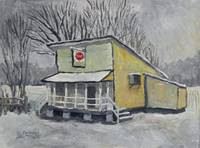 Country Store In Snow