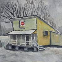 Country Store In Snow Art Prints & Posters by Robert Holewinski