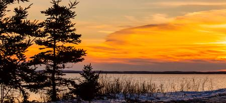 Canada's east coast,sunset