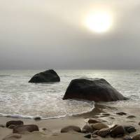 Foggy Day at Moshup Beach, Martha's Vineyard Art Prints & Posters by Christopher Seufert