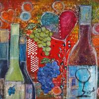Wine with Heart Art Prints & Posters by Maggie Bernet