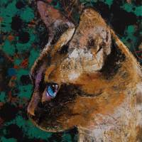 Siamese Portrait Art Prints & Posters by Michael Creese
