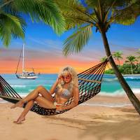 HAPPY HOUR ON THE BEACH Art Prints & Posters by Glenn Holbrook