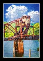 7935PS Augusta Railway Draw Bridge Painting
