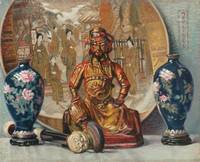 Chinees Still Life by Ernest Moulines (1870-1942)