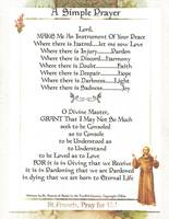 600 simple prayer on st francis