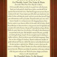 8x10 classic desiderata Art Prints & Posters by claudette armstrong