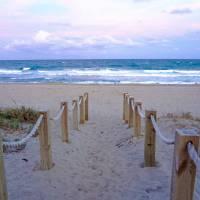 Pink Sunrise Beach Treasure Coast Florida C6 Art Prints & Posters by Ricardos Creations