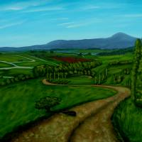 Green Fields Art Prints & Posters by Anthony Dunphy